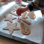 baking with kids holiday spice cookies