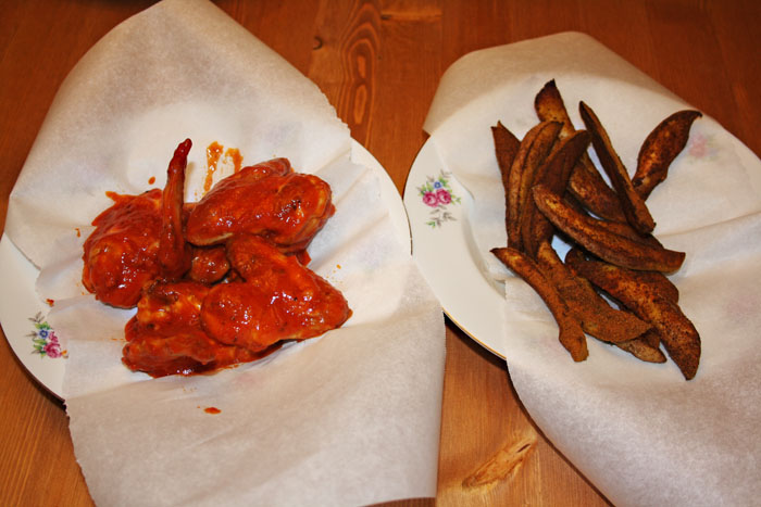 Chicken Wings with Spicy Wedges