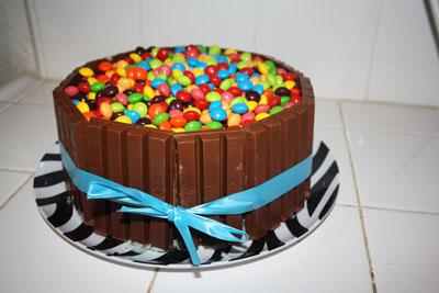 Skittles And Kit Kat Cake