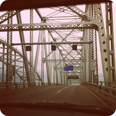 crossing over into Michigan