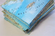Window Shopping Wednesday - Keeley Behling Studios -Atlas Map Envelopes Set of 12