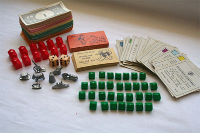 Window Shopping Wednesday - Keeley Behling Studios - Vintage Monopoly Pieces