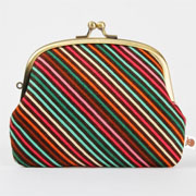 Window Shopping Wednesday - Octopurse - Pop up - Papillion stripes - double metal frame purse