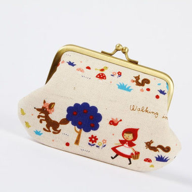 Window Shopping Wednesday - Octopurse - Daddy purse - Little red riding hood in blue - metal frame purse